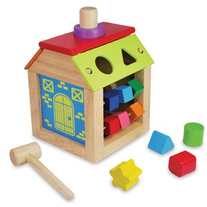 Houten Activity Busy House I'M Toy