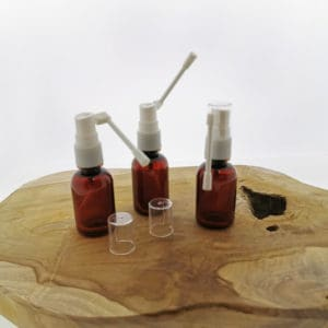 Keel & neusspray flesje 30ml pet amber bruin