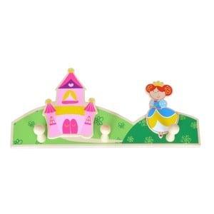 Houten Kinderkapstok Princes Kasteel