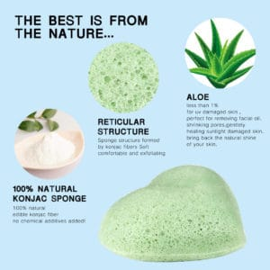 Konjac spons Aloe Vera 100% natuurlijk