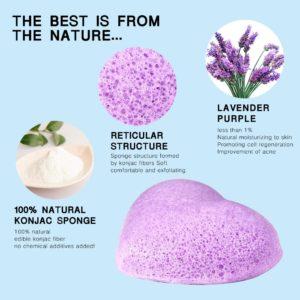 Konjac spons Lavendel 100% natuurlijk