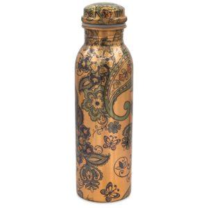 Koperen drinkfles paisley geprint
