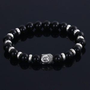 Kralen armband onyx Buddha