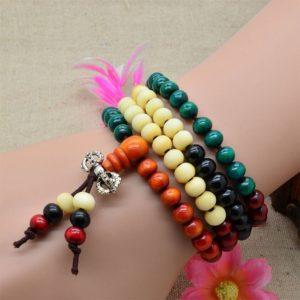 Kralen armband Palissander hout
