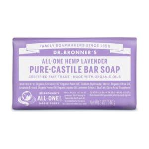 Lavendel vaste zeep Dr Bronner's Bar soap 140gr