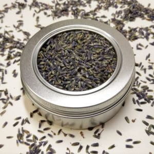 Lavendelbloemen blikje 150 ml + kijkvenster – Lavendel 1e kwaliteit