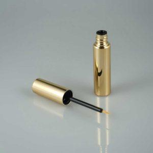 lege eyeliner verpakking goudkleurig + liner penseel make-up kwastje