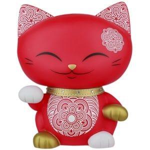 Mani the Lucky Cat Spaarpot Rood (180 mm)