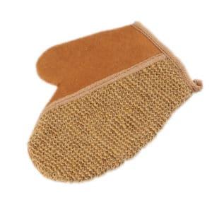 Massage handschoen scrub bad spons