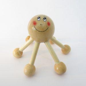 Massage spin hout gezichtje zespoot