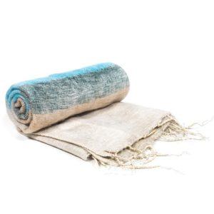 Meditatie omslagdoek crème strepen 200x80cm – sjaal