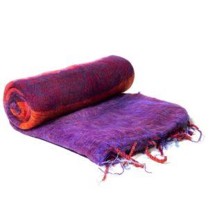 Meditatie omslagdoek paars strepen 200x80cm – sjaal