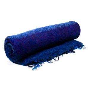 Meditatie omslagdoek XL blauw violet 245x115cm – sjaal