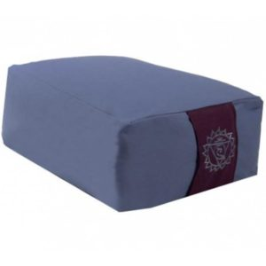 Meditatiekussen bolster blauw 5e chakra rechthoekig