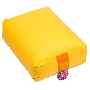 Meditatiekussen bolster geel 3e chakra rechthoekig