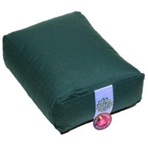 Meditatiekussen bolster groen 4e chakra rechthoekig