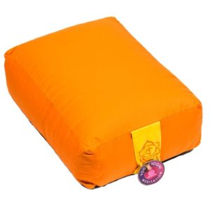 Meditatiekussen bolster oranje 2e chakra rechthoekig