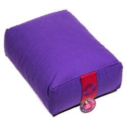 Meditatiekussen bolster violet 7e chakra rechthoekig