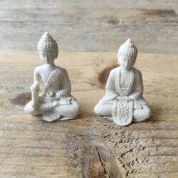 Mini Boeddha wit 5.5cm