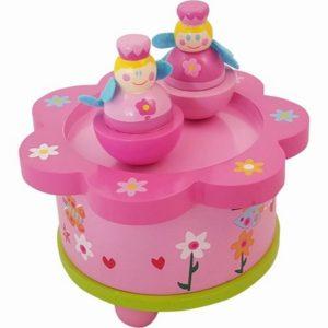 Muziekdoos dansende Prinsesjes rond roze groen