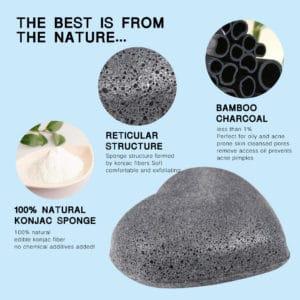 Konjac spons Bamboe 100% natuurlijk