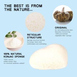 Konjac spons Pure original 100% natuurlijk