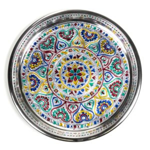 Offerschaal Mandala Aluminium 28 cm.