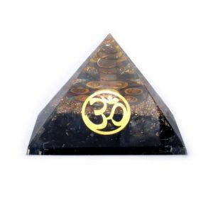 Orgoniet chakra piramide zwarte toermalijn ohm