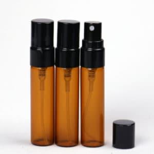 Parfum verstuiver 5ml amber bruin glas (5 stuks)