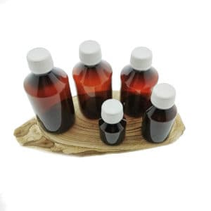 Fles dop garantiesluiting – Plastic pet fles amber bruin