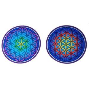 Raamsticker Bloem des Levens Mandala +- 6 cm
