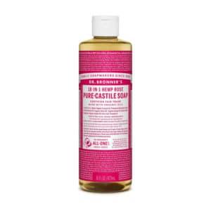 Roos castille zeep vloeibaar Dr Bronner's