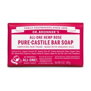 Roos vaste zeep Dr Bronner's Bar soap 140gr
