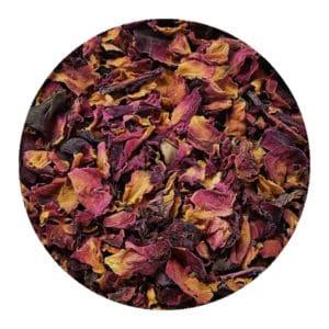 Rozenblaadjes gedroogde rozenbladeren paars