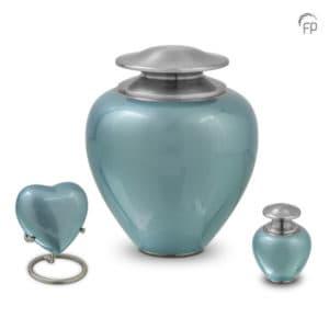 Satori Hart urn Blauw Metaal keepsake 0,08 Liter