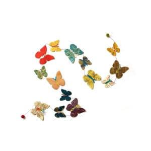 Slinger vlinders 180 cm locta papier