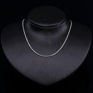 Zilveren ketting Snake model halskettingen verzilverd
