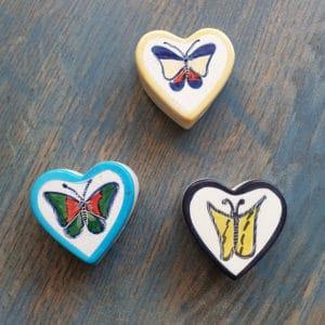 speksteen doosje hart vlinder 7 cm.