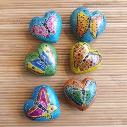 Speksteen hart Vlinder