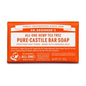 Tea Tree vaste zeep Dr Bronner's Bar soap 140gr