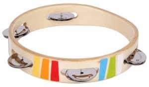 Houten tambourijn Safari in kistje