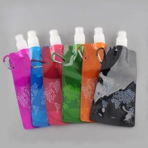Opvouwbare waterfles – herbruikbare flexibele fles navulbaar