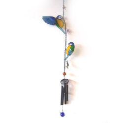 Windgong Vogel Mees slinger mobiel glas metaal