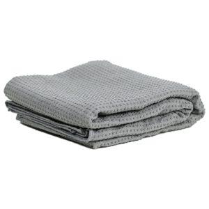 Yoga handdoek pvc antislip grijs