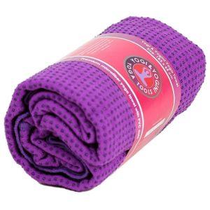 Yoga handdoek pvc antislip paars