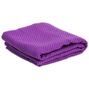 Yoga handdoek siliconen antislip paars