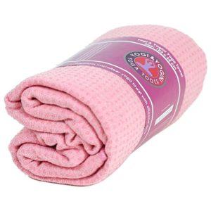 Yoga handdoek siliconen antislip roze
